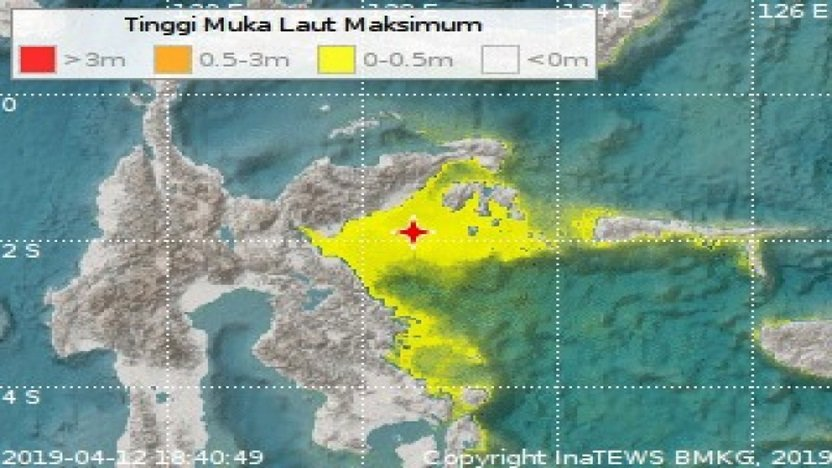 Banggai Diguncang Gempa 6.9 SR, Peringatan Tsunami Telah Berakhir