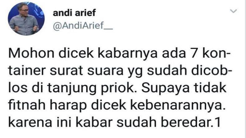 Andi Arief Jagoan Bikin Kisruh